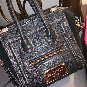 Valentino Black Leather Cross Body Bag